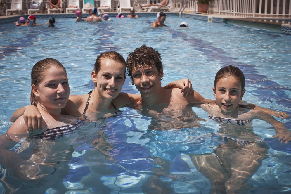 Hotel with heated pool with children area Milano Marittima